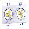 6w square led downlight