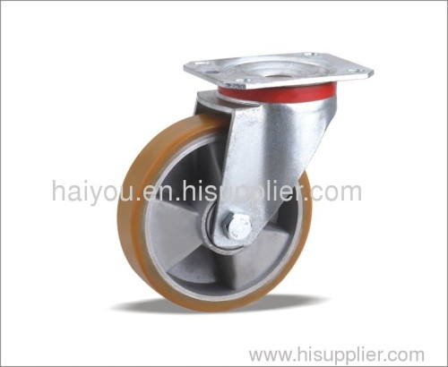 125x40 200x50mm Swivel Caster with Polyurethane wheel(Aluminum core)3ribs