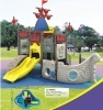 2011NEW!Funny pirate ship combined plastic slide outdoor playground amusement park kids toy