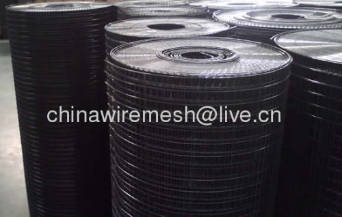 black welded wire mesh