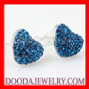 Fashion Blue Tresor Paris Crystal Heart Stud Earrings Wholesaler