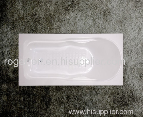 Smooth acrylic simple bathtub