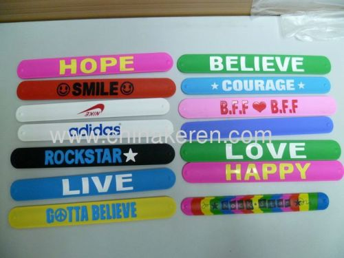 Hot Sell Fashion Silicone slap bracelet