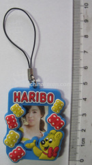 Soft pvc photo frame keychain