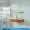 Hung Wall Furniture With Round Mirror (solid wood)