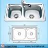 Double Bowls European Standard Kitchen Steel Sink