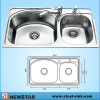 Top mount Steel Sink With Faucet