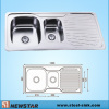 Double Basins European Standard Steel Sink