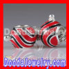 european Style 925 Sterling Silver Christmas Ball Beads Enamel Red Charms
