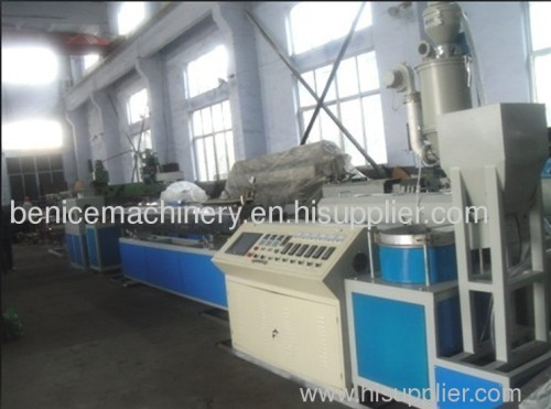 Cylindrical drip irrigation pipe production line