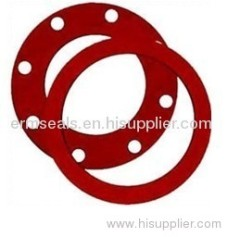 Molded silicone rubber gasket