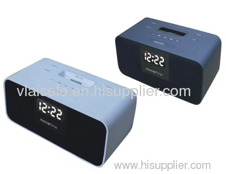 V6 iPod / iPhone Speaker System with Alarm Clock and FM Radio