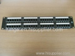 cat5e 24 ports utp patch panel