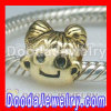 Gold Plated Girl Charm Jewelry S925 Silver Beads