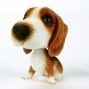 Polyresin bobble head dog