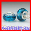 925 Sterling Silver Double Cores Charm Jewelry Italian Murano Glass Beads