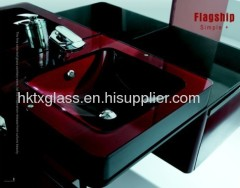 painted glass basin