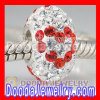 european Crystal Beads With Red Heart For 2012 Valentine Day Charms