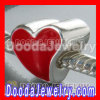 S925 Sterling Silver Charm Jewelry Beads Enamel Red Heart Charms european Compatible