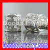 925 Sterling Silver Charm Jewelry Beads Charms With Hollow Flower Design