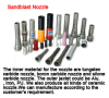 Sandblast nozzle boron carbide nozzle tungsten carbide nozzle ceramic nozzle stick-up nozzle