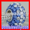 Fashion european Style Crystal Charms With Blue White Swarovski Crystal Accent