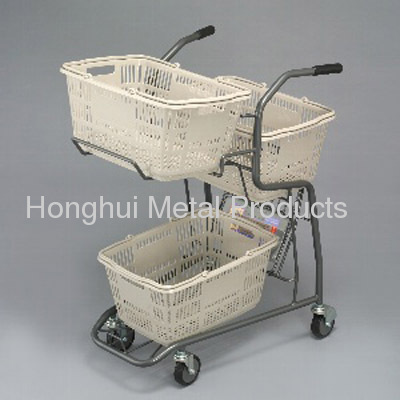 3 Hand Basket metal trolley