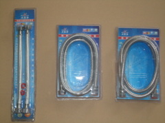1.5m Double-lock Stainless Steel Shower Hose, Wire Knitted Hose