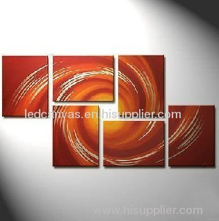 abstract canvas painting by hand