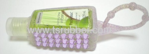 Hand Sanitizer Silicone Holder With Transparent Diamond