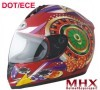 Motorcycle full face helmet with DOT and ECE approval