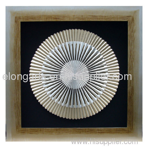 wall decor of photo frame with wood carving shadow box