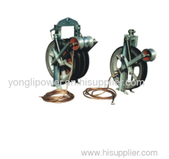 Stringing pulley block helicopter string dollies with earthing device-grounding roller a grounding roller