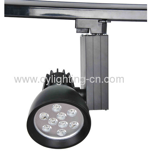 9W Aluminum Die-cast 263mm×155mm×120mm Black LED Track Lights