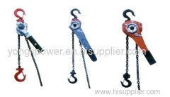 Hand operated chain lever hoist for conductor sagging from 2.5kn-90kn wrenching chain tackle block chain hoist