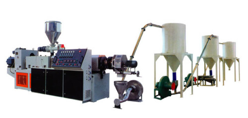 Conical screw extruder