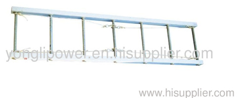 Aluminous alloy ladder for working in tagged -out position