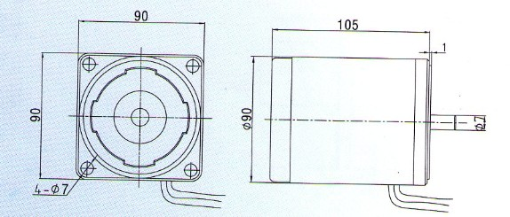 90mm 40w Single Phase Induction Geared Motor Products