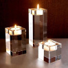 Crystal rectangular candle holder