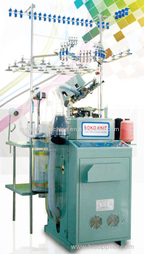 6F series fully computerized plain and terry sock knitting machine