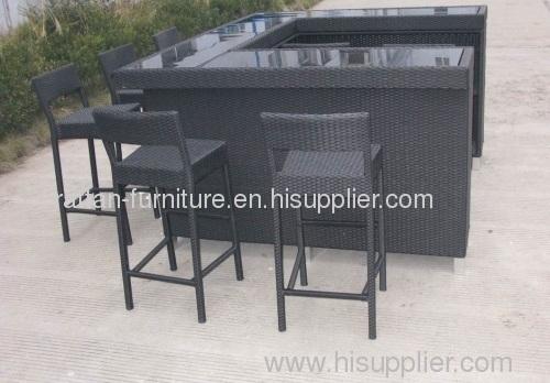 Outdoor Wicker Furniture Rattan Bar
