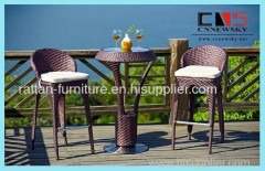 Outdoor PE rattan Patio Garden Furniture Bar Chair Bar Table Bar Set