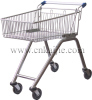 Mini metal supermarket zinc plated shopping trolley 70L