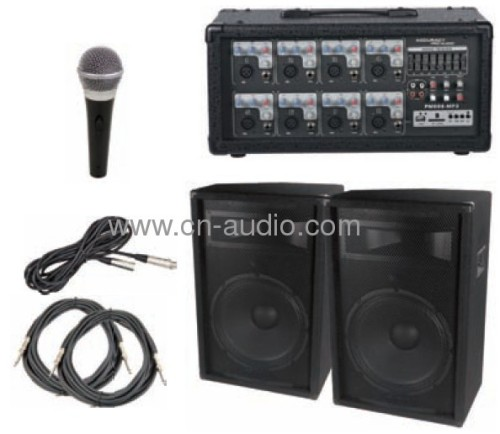 Portable PA Equipment with USB/SD/LCD