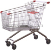 Euoropean style zinc plated shopping carts 180L