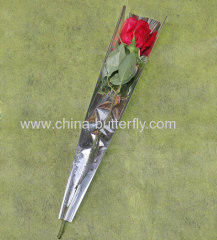 Single rose sleeve/Clear sleeve/Transparent sleeve/ Flower sleeve/