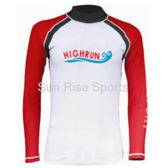 red color men's long sleeve Rash Guard