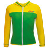 lycra women's Rash Guard with zipper