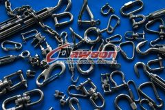Stainless Steel Shackles Turnbuckles Snap Hooks Chains Quick Links Swivels Wire Rope Clip