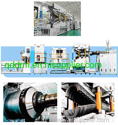 plastic double wall corrugated pipe production line
